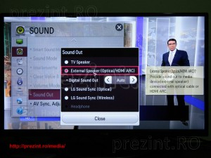 TV LG 32LA660S - audio settings